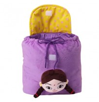 Kung Fu Dhamaka Chutki 3D Face Plush Bag - Purple