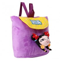 Kung Fu Dhamaka Kia 3D Face Plush Bag - Purple