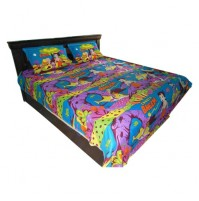 Chhota Bheem Double Bed Sheet - Turquoise