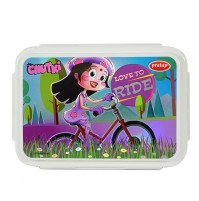 Chhota Bheem Lunch Box Purple and White