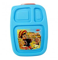 Chhota Bheem 3 Compartment Lunch Box Blue-Red