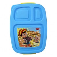 Chhota Bheem 3 Compartment Lunch Box Yellow