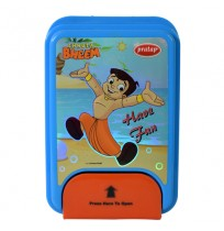 Chhota Bheem 1 Lock Red & Blue Lunch Box