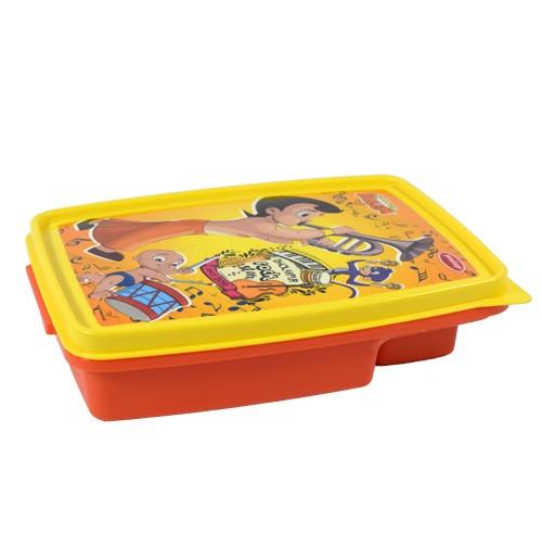 Chhota Bheem 2 Partition Lunch Box-Orange