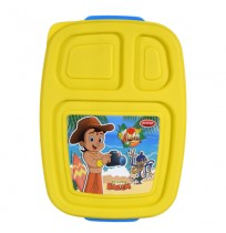 Chhota Bheem 3 Compartment Lunch Box Blue