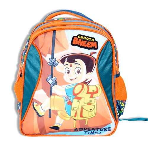 Chhota Bheem 3 Zipper School Bag
