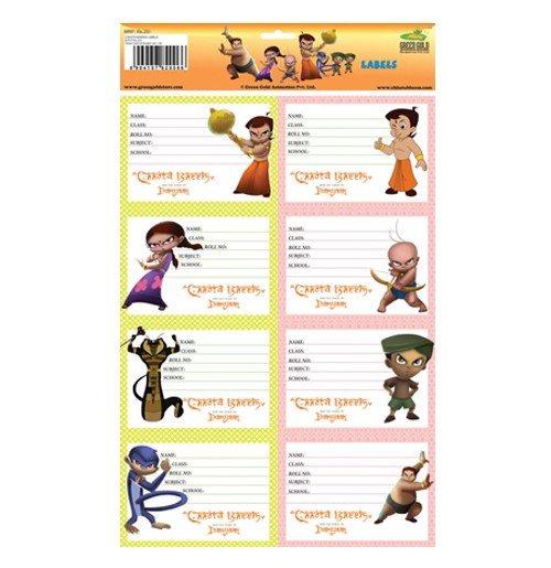 Chhota Bheem & The Curse Of Damyaan - School Labels