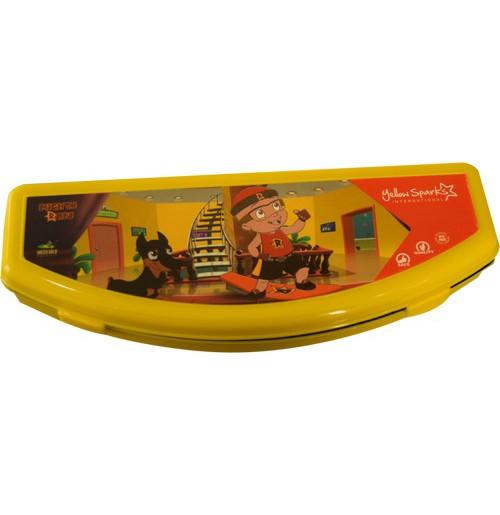 Migthy Raju Pencil Box - Yellow