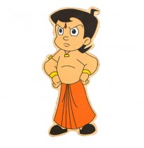 Chhota Bheem Wooden Cutout - Angry