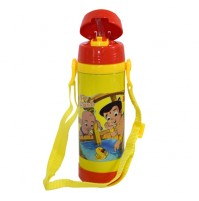 Chhota Bheem Insulated Vacuum Steel Water Bottle Yellow & Red