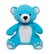 Soft Hug Teddy bear Blue 36 Cm