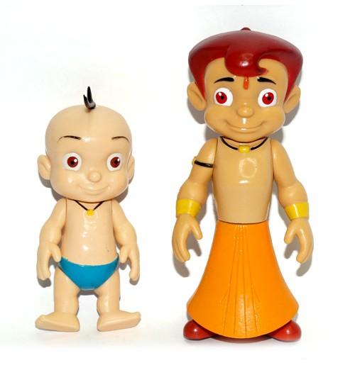2-IN-1 Chhota Bheem And Raju Action Figure