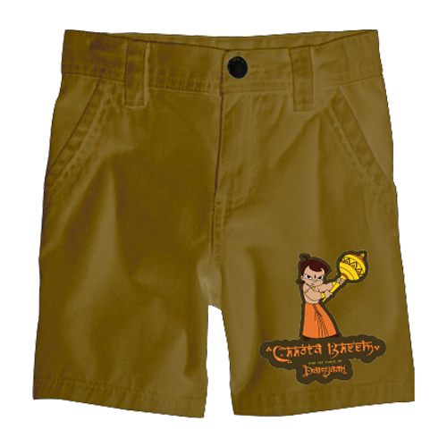 Chhota Bheem Shorts - Single - Khaki