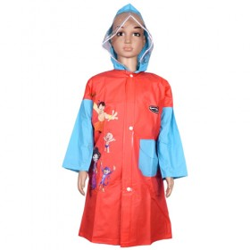 Chhota Bheem Raincoat - Red