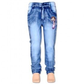 Chutki Girls Denim Pant-Blue
