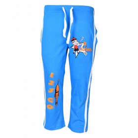 Mighty Raju - Track Pant - Med Blue