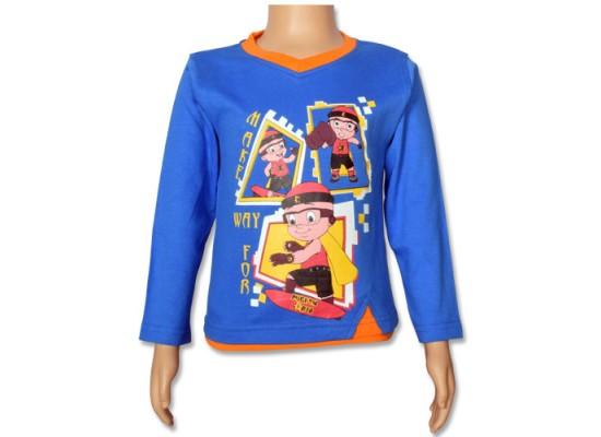 Mighty Raju- Full Sleeve T Shirt - Directoire Blue