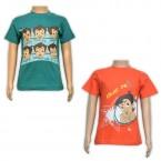 Boys T-Shirt Combo - Green & Orange