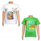 Boys T-Shirt Combo - Green & White