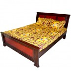 Double Bed Sheet - Brown