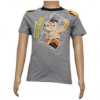 Chhota Bheem Printed Boys T-Shirt - Grey