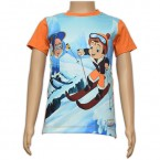 Sublimation T - Shirt - Blue & Orange