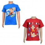 Boys T-Shirt Combo - Red & Blue