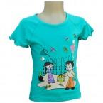 Chhota Bheem Girls Top  - Turquoise