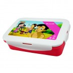 Lunch Box - White & Pink - (1256)