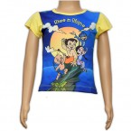 Girls Sublimation Top - Blue & Yellow