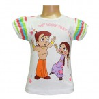 Chutki & Chhota Bheem Girls Top - White
