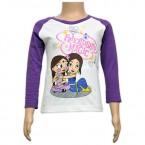 Chutki Full Sleeves Girls Top - White & Purple