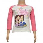 Chutki Full Sleeves Girls Top - White & Pink