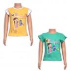 Girls Top Combo - Yellow & Green
