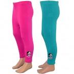 Chutki Girls Legging - Fuchsia & Green