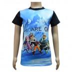 Boys Sublimation T Shirts -Black & Blue