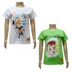 Boys T-Shirt Combo - White & Green