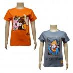 Boys T-Shirt Combo - Orange & Dark Grey