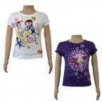 Girls Top Combo - White & Purple