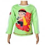 Mighty Raju- Full Sleeve T Shirt - Lime Green