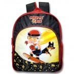Mighty Raju School Bag - Black & Red