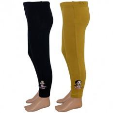 Chutki Girls Legging - Brown & Black