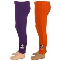 Chutki Girls Legging - Purple & Orange