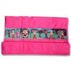 Chhota Bheem Border Print Towel- Pink-1