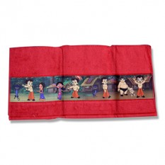 Chhota Bheem Border Print Towel- Maroon - 1