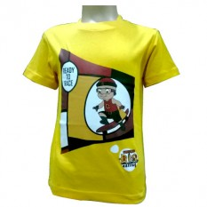 Mighty Raju T- Shirt  Yellow